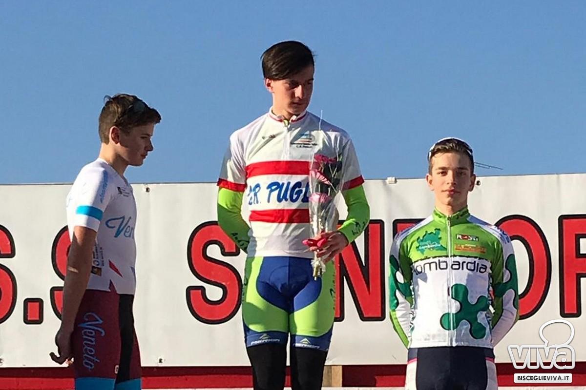 Anthony Montrone sul primo gradino del podio a San Fior