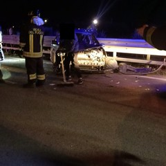 Grave incidente sulla statale 16 bis tra Bisceglie nord e Trani sud