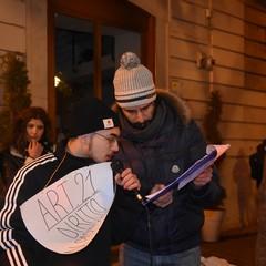 Diritti a testa alta in piazza San Francesco a Bisceglie