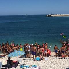 Cani da salvataggio impegnati in una dimostrazione sulle spiagge biscegliesi