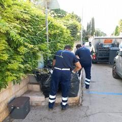 Attività di controllo e informazione in contrasto al fenomeno dell'abbandono dei rifiuti a Bisceglie