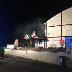 Incendio in una pizzeria