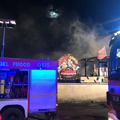 Incendio in una pizzeria