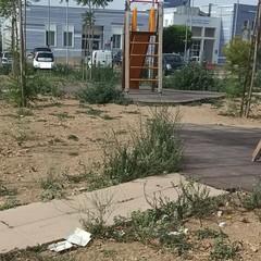 «Sporcizia e degrado nel parco giochi adiacente l'ospedale di Bisceglie»