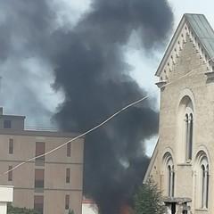 Incendio nell'ex Casa della Divina Provvidenza
