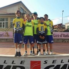 Mauro Mastrapasqua - Primo da sinistra nell'immagine, al suo primo anno nella categoria Esordienti ha stupito gli addetti ai lavori ottenendo risultati eccellenti e mostrando continui segnali di crescita. Fa parte del florido vivaio della Scuola di ciclismo Ludobike Racing Team