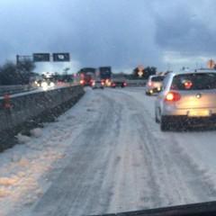 Neve sul tratto biscegliese della statale 16 bis