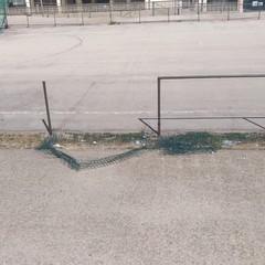 Le condizioni dell'impianto sportivo di Salnitro