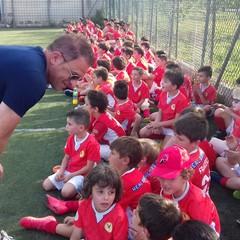 L'allenatore della Spal Semplici in visita ai piccoli del Real Bisceglie