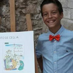 Vito De Ceglia - Ha 11 anni il più giovane tra gli scrittori biscegliesi. Figlio d'arte, è l'autore de Il regno della famiglia Zucchina