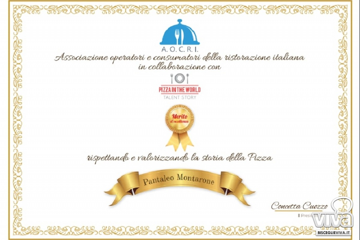 Il riconoscimento a Montarone
