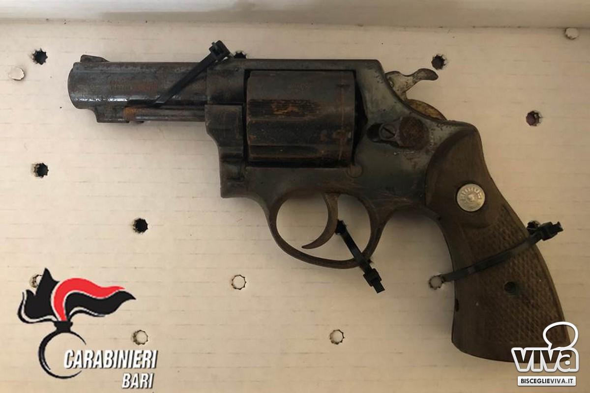 La pistola da cui sono partiti i colpi all'indirizzo del Tenente dei Carabinieri