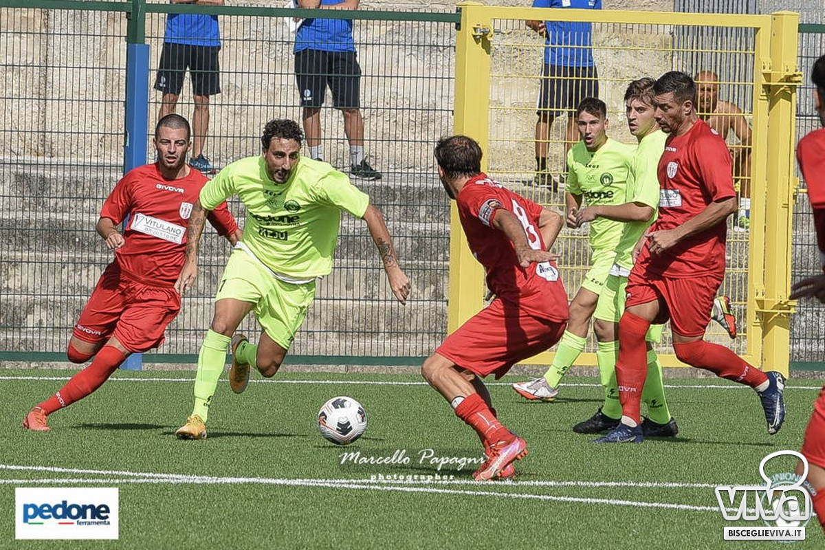 Una fase del match Unione-Barletta