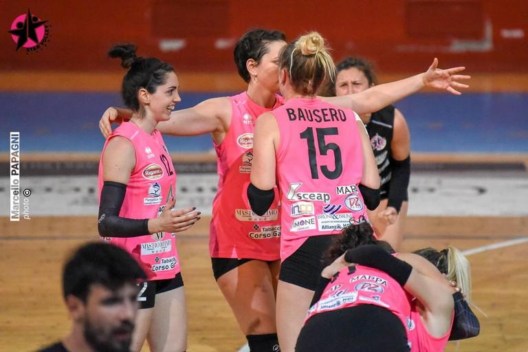 L'esultanza della Star Volley Bisceglie. <span>Foto Marcello Papagni</span>