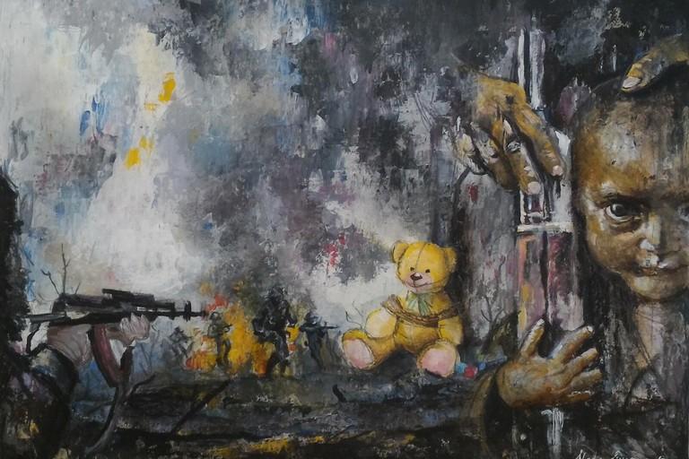 L'opera di Nadia Simone che si è aggiudicata la sesta edizione di Art for rights