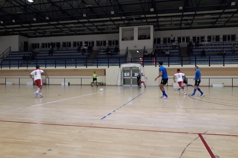 Azione di gioco del Fùtbol Cinco Bisceglie