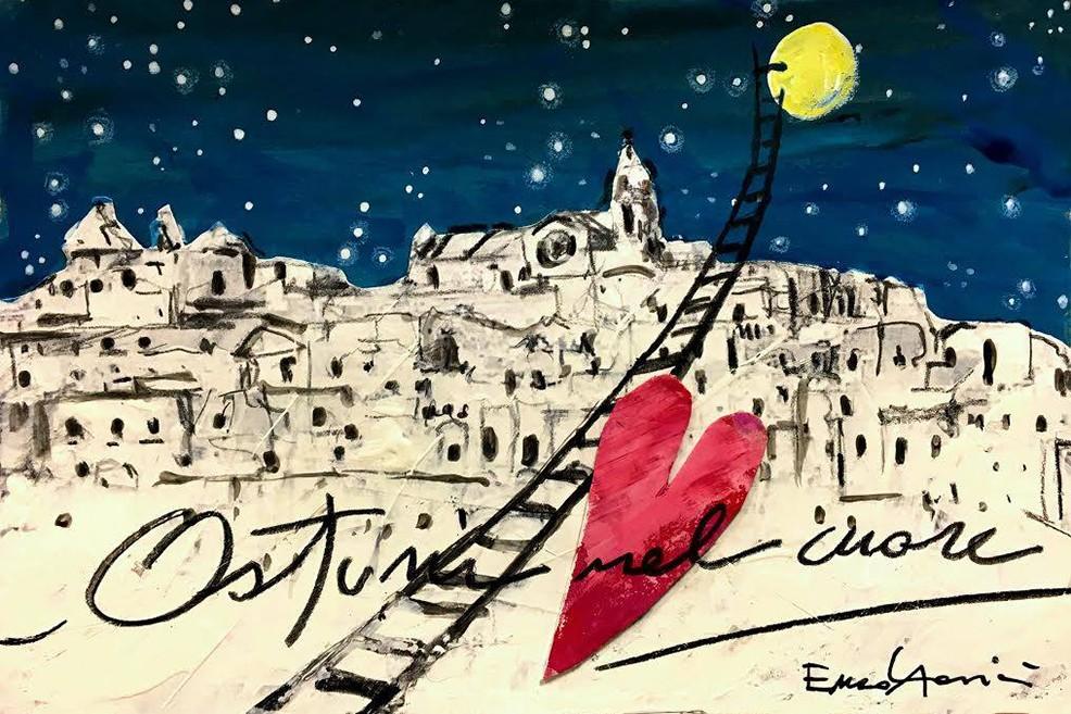 Enzo Abascià cartolina ostuni