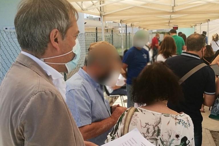 Il Sindaco Angarano in coda per la vaccinazione anti-Covid