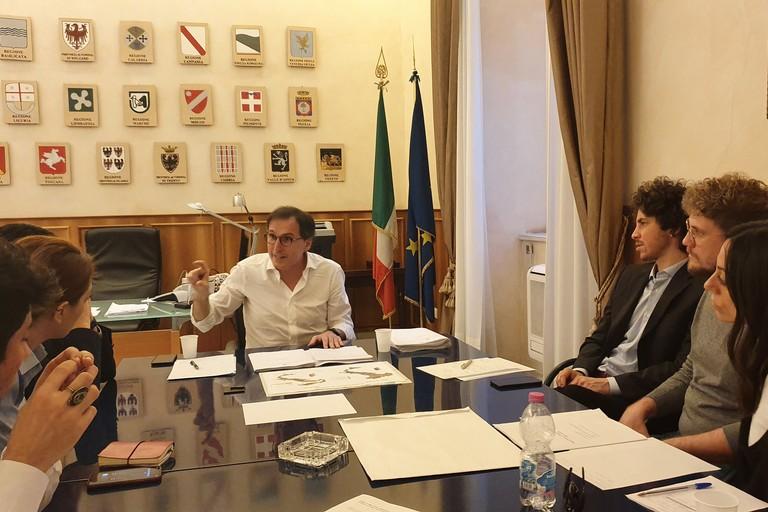 Incontro tra il ministro Boccia e la delegazione delle sardine