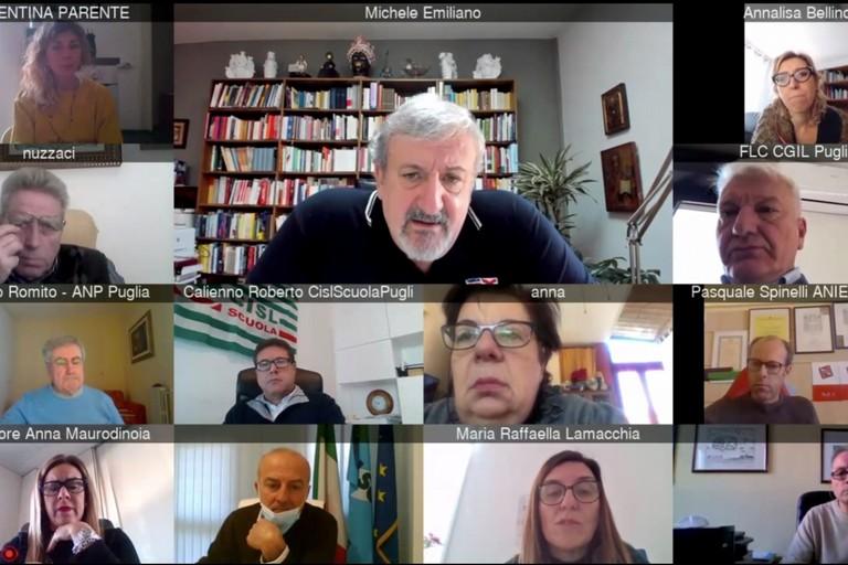 Incontro in videoconferenza fra Regione Puglia, direttore Usr e sindacati