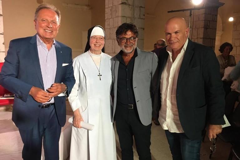 Paolo Telesforo, suor Annateresa Valentini, Marcello Veneziani e Alfredo Nolasco