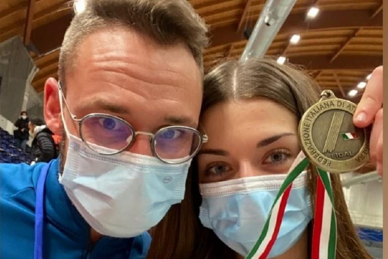 Adriana Cosmai col suo allenatore Alessandro Altamura