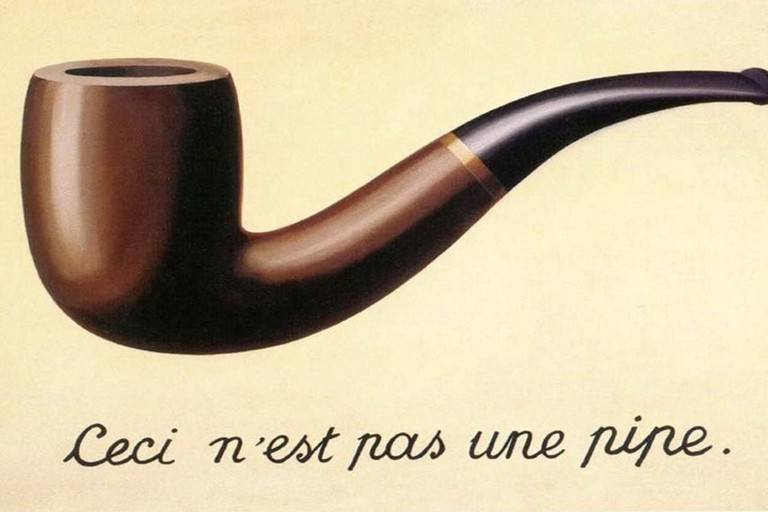 La Trahison des images di Magritte