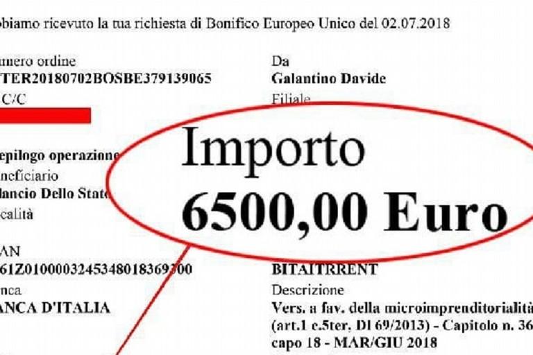 Il documento pubblicato dal parlamentare biscegliese Davide Galantino