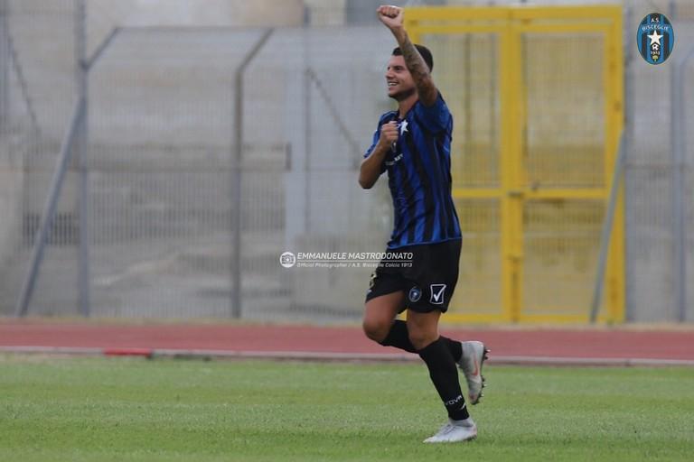Alessandro Gatto, ancora decisivo con la sua rete. <span>Foto Emmanuele Mastrodonato</span>