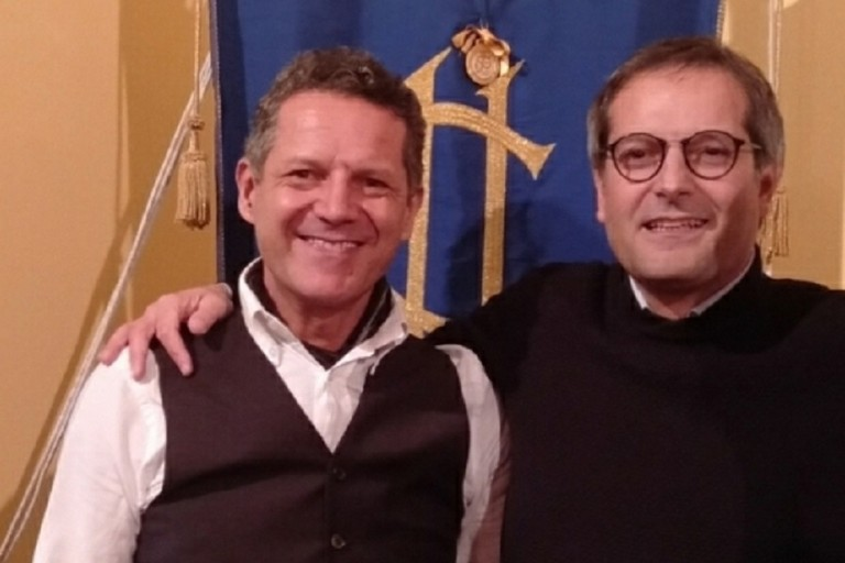 Nicola Losapio con Angelantonio Angarano