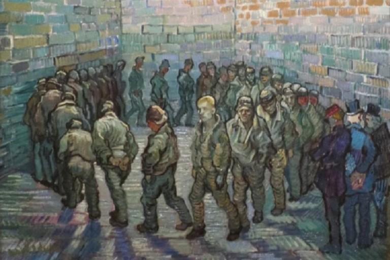 La ronda dei prigionieri di Vincent Van Gogh
