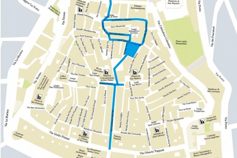 Borgo delle meraviglie, la mappa del percorso