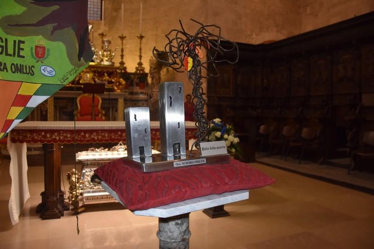 Il trofeo del Palio della Quercia. <span>Foto Antonio Lopopolo</span>
