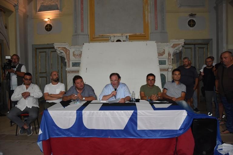 Dirigenti del Bisceglie (Foto Cristina Scarasciullo)