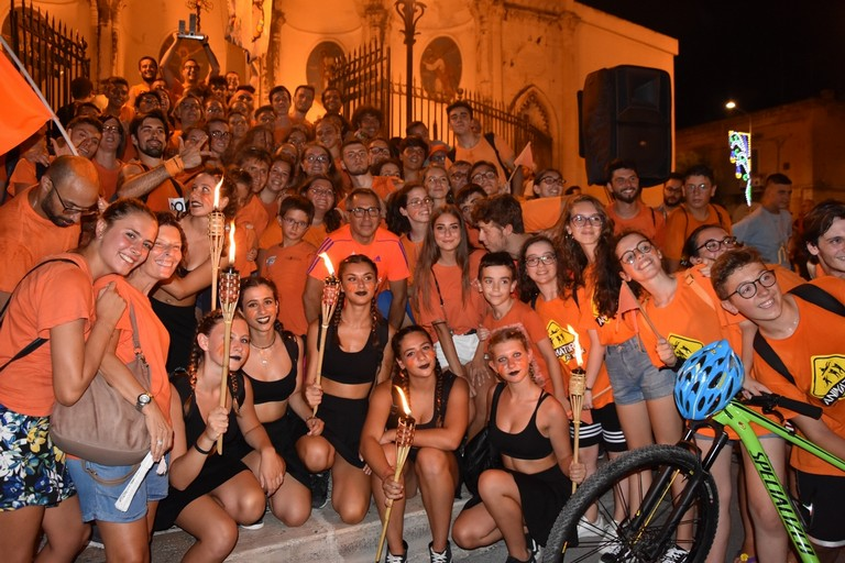 La squadra della parrocchia Santa Maria di Costantinopoli vincitrice del Palio della Quercia 2018. <span>Foto Luca Ferrante</span>