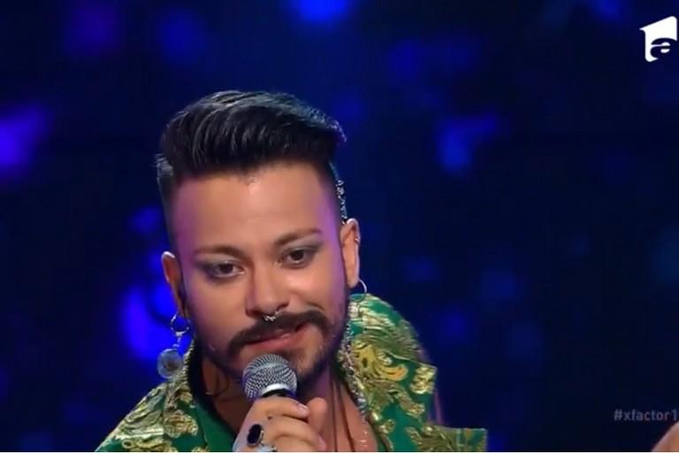 L'esibizione del biscegliese Andiel nel corso di X Factor Romania