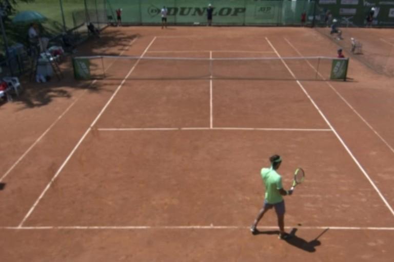 Una fase del match tra Andrea Pellegrino e Guilherme Clizar