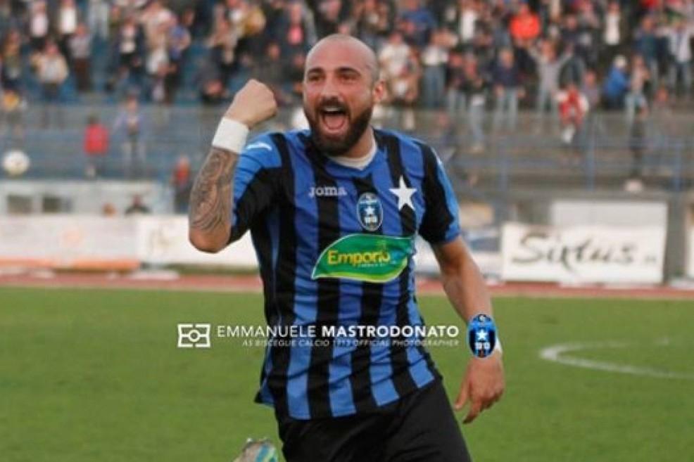 Andrea Petta, autore del primo gol con la Paganese. <span>Foto Emmanuele Mastrodonato</span>
