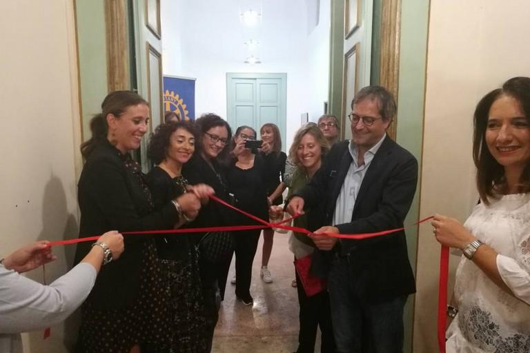 Il sindaco Angarano inaugura la mostra internazionale