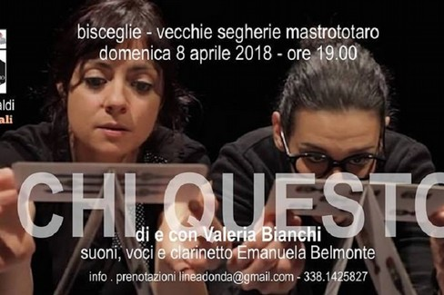 Valeria Bianchi e Emanuela Belmonte, domenica 8 aprile presso le Vecchie Segherie