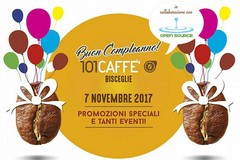 Grande festa, martedì 7 novembre, per il secondo compleanno di 101 Caffè