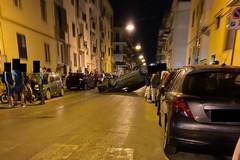 Auto si ribalta su corso Umberto I
