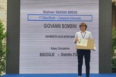 Concorso nazionale Rotary, Giovanni Bombini si aggiudica il primo premio