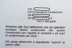 False minacce ai condomini di un caseggiato di Bisceglie: Ambiente 2.0 denuncia