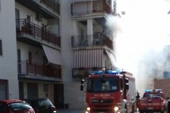 Incendio in zona Santa Caterina