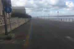 Vento forte e mareggiate in zona BiMarmi a Bisceglie