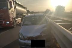 Incidente all'ingresso Bisceglie ovest della statale 16 bis in direzione Bari
