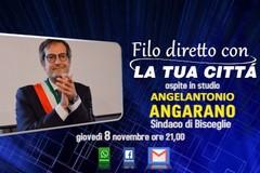 Il sindaco Angarano in diretta tv