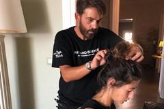 L'hair stylist molfettese Salvo Binetti al matrimonio Fedez-Ferragni