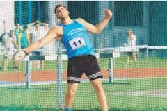 Carmelo Musci migliora di quasi quattro metri il suo primato nel lancio del disco senior